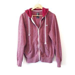 Billabong Men's Zip Up Hoodie Sweatshirt Sz M